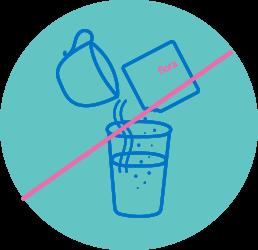 Bonaflora recomendaciones - No mezclarse  con alimentos solidos o con líquidos demasiado calientes  ofrios